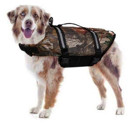 Dog Life Jacket in Camo to make your dog feel like one of the team this summer.
